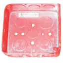 "Backbox, 3.375x3.375x2.1875"", red"