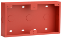 Conduit box, surface-mount, red
