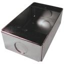 Surface backbox, powder-coat finish