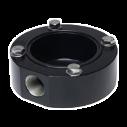 MIC-SCA-BD Adaptador conducto superf., negro areno.