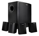 LB6-100S-D Wall mount speaker system, black