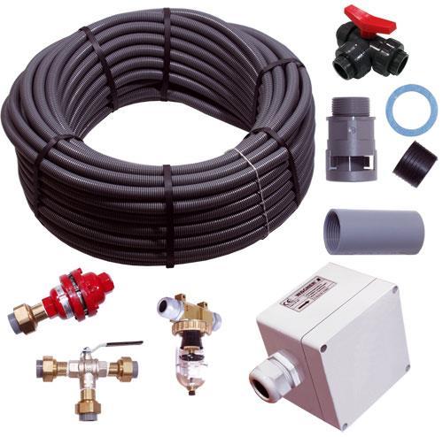 PVC‑T‑Stück, für Rohr außen Ø25mm