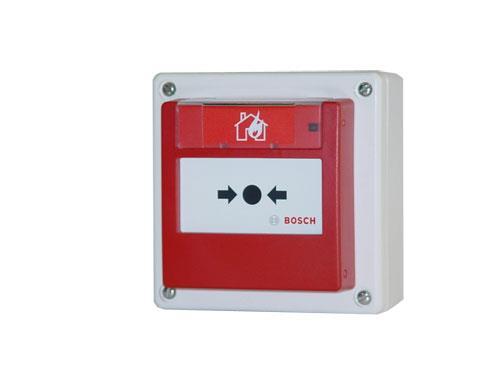 FMC-420RW-HSGRD Manueller Melder, außen, Glas, rot