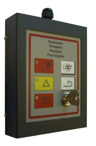 FMF-420-FBF-CH Fire brigade operating panel Switzerland