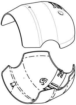 MIC-9K-SNSHLD-W Sunshield thermal PTZ camera, white