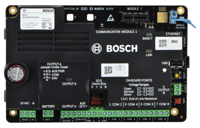 B6512-CHI 96 zones-6 area Alarm Control Panel
