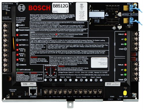 B8512G IP control panel, 8 areas, 99 points