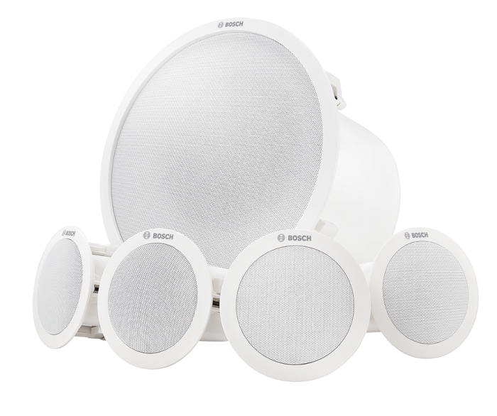 LC6-100S-L Ceiling mount speaker system, white