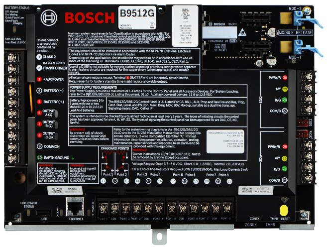 B9512G IP control panel, 32 areas, 599 points