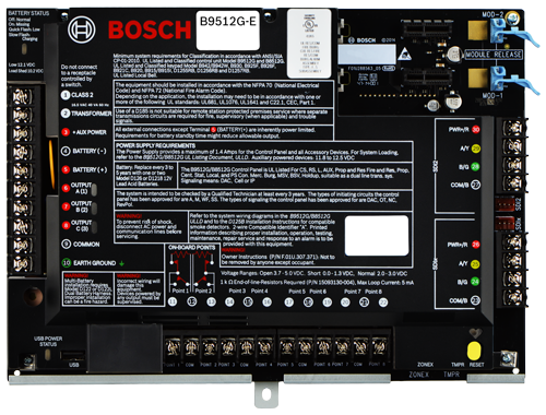 B9512G-E Control panel 32 areas 599 points, no IP