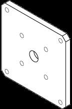 MIC-SPR-S 壁面マウントスプレッダープレート、ステンレス