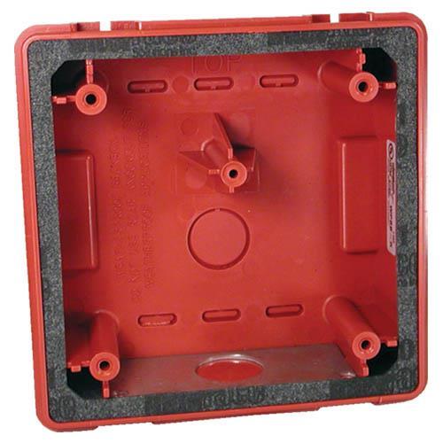 WPBB-R Weatherproof backbox, red