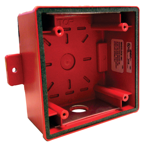 IOB-R Surface backbox, indoor/outdoor, red