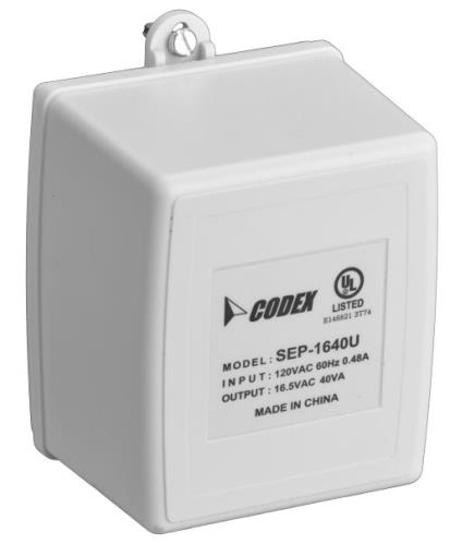 D1640 Transformer plug-in, 16V 40VA