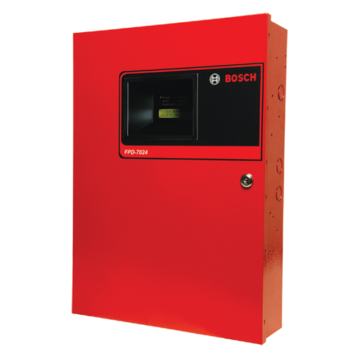 FPD-7024 Fire panel, 4-zone 24V, red enclosure
