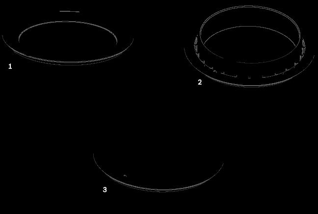 VGA-BUBLRG-CCLA ドームカバー、天井埋め込み型、L、クリア