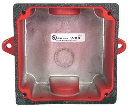 WBB-R Backbox, weatherproof, red