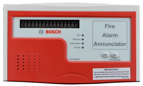 D1257RB Remote fire annunciator, red/grey