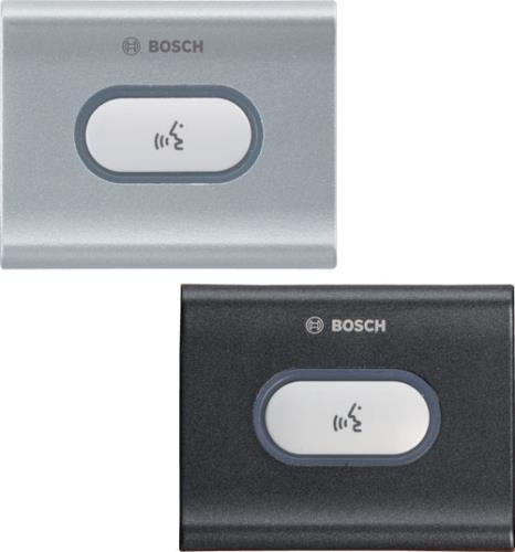 DCN-FMICB-D フラッシュマウントマイクボタンパネル、ブラック