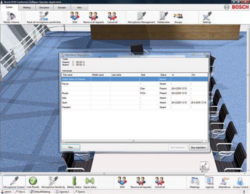 DCN‑SWAT 会议软件登记和访问控制